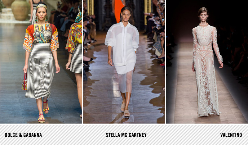 SS13 Dolce and Gabanna, Stella Mc Cartney, Valentino